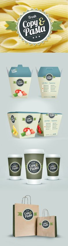 """""""Copy  Pasta""""  Corporate Identity, Packaging, #corporateidentity, #packaging, #pasta"""