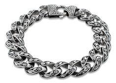 Sterling Silver Skull Bracelets. Mens Skull Bracelets. Bone Skull Bracelet.