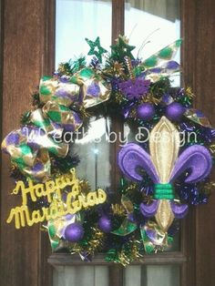 mardi gras wreaths | Mardi gras wreath