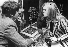 "May 15, 1967: Paul McCartney meets Linda Eastman at the ""Bag O'Nails"" club in Soho, London.  The photograph was taken four days later, May 19, at a press party at Brian Epstein's home, celebrating the release of ""Sgt. Pepper's Lonely Hearts Club Band""."