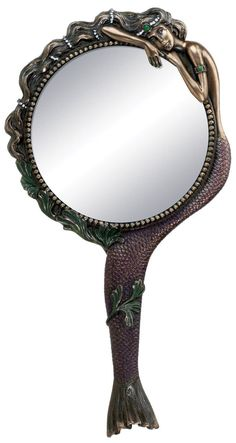 Art Nouveau Collectible Mermaid Hand Mirror Nymph Decoration ** Don't get left behind, see this great product offer : Decor Mirrors Jugendstil Design, Art Deco, Boho Home, Art Nouveau Jewelry, Vanity Set, Buy Art, Jewelry Collection, Decoration, Bronze