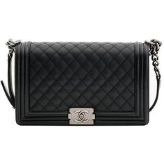 Preowned Chanel New Medium Caviar (18.180 BRL) ❤ liked on Polyvore featuring bags, handbags, shoulder bags, purses, chanel, bolsas, black, structured shoulder bags, man leather shoulder bag and chanel handbags