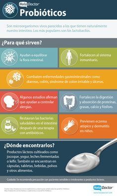 ¿Sabes qué es un probiótico? #infografia