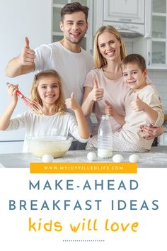 If you're wanting less stressful mornings, yet want to feed your kids something other than cereal everyday, try some of these make-ahead breakfast ideas. #breakfastrecipes #breakfastforkids #recipesforbusymoms Make Ahead Breakfast, Healthy Breakfast Recipes, Breakfast Ideas, Brunch Recipes, Healthy Meals, After School Routine, School Routines, Baby Led Weaning Breakfast, Oatmeal Squares
