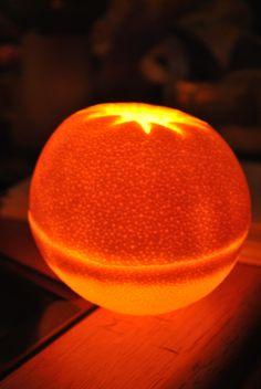 flameless orange candle
