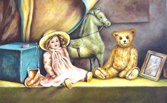 Galerie Zyklus Teddys und Spielzeug • Künstlerin Elisabeth Bunka-Peklar Painting, Art, Clearance Toys, Art Background, Painting Art, Kunst, Paintings, Performing Arts, Painted Canvas