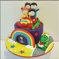 The Wiggles birthday cake Fun cake for little kids Made by Mastello Creations Second Birthday Cakes, Twin Birthday, Birthday Cake Girls, Baby First Birthday, 3rd Birthday Parties, Unicorn Birthday, Birthday Ideas, Wiggles Birthday, Wiggles Party