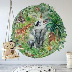 m x Jungle Wall sticker. Quick and easy way to bring jungle indoors. Safari Jungle, Safari Look, Jungle Theme, Jungle Bedroom, Cat Bedroom, Jungle Nursery, Kids Bedroom Designs, Baby Room Design, Baby Room Decor