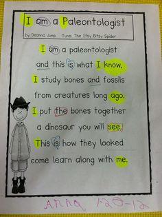 I am a Paleontologist Poem