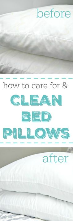 How to care for and clean bed pillows. via @Mom4Real