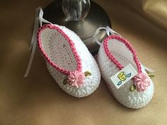 Crochet Baby Shoes.. Hand Made By Me. <3