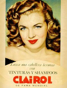 Marilyn Monroe In A Shampoo Ad For Clairol.