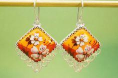 e211-Folk-Vintage-Jewelry-Earrings-Rostov-Finift-Russia