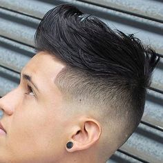 High Temple Fade with Textured Tousled Hair