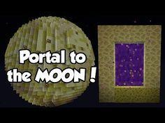 How to Make a PORTALto the MOON (No Mods) | Minecraft - YouTube