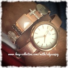 TimeKeys and rose gold leather are my ultimate favorite combo! www.keep-collective.com/with/alyssajoy