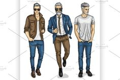 Vector man models by Netkoff on Fashion Illustration Portfolio, Fashion Illustration Template, Fashion Illustration Collage, Fashion Illustration Dresses, Illustration Vector, Portfolio Fashion, Couple Illustration, Fashion Illustrations, Illustrations Techniques