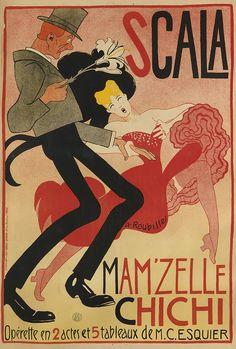 Auguste Roubille (1872-1955),  Scala Mam' zelle Chichi, Paris.