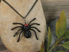creepy spider necklace