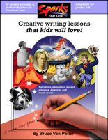 Writing can be fun! Writing activities for elementary age students including Mugshots, Build a Hero, and Wacky Headlines.