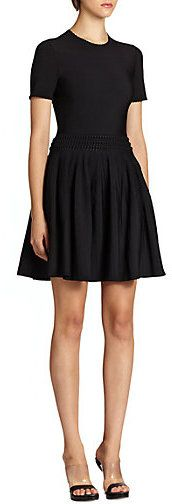 Alexander McQueen Knit Fit-&-Flare Dress