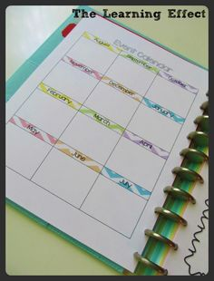 The Learning Effect: My 2013-2014 Chevron Teacher Planner ... personalized for disc system