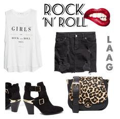 Rock&Roll by ireneene on Polyvore featuring moda, MANGO and H&M