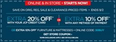 JcPenney 10-20% off Coupons + 6% Cash Back instantly with a JCP digital gift card from ShoppingBoss!