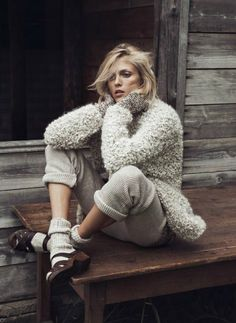 """""""Into the Wild,"""" Anja Rubik by Lachlan Bailey for Vogue Paris, October 2014"""