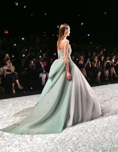 "sseezox: "" Monique Lhuillier s/s2015 Finale Dress. New York Fashion Week """
