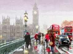 Раскраски по номерам английский мост