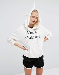 Wildfox Halloween Unicorn Hoodie at asos.com