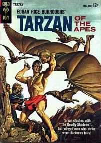 GCD :: Cover :: Edgar Rice Burroughs' Tarzan of the Apes Silver Age Comics, Comic Book Covers, Comic Books Art, Book Art, Tarzan Series, Robert E Howard, Creepy Comics, Tarzan Of The Apes, Fictional Heroes