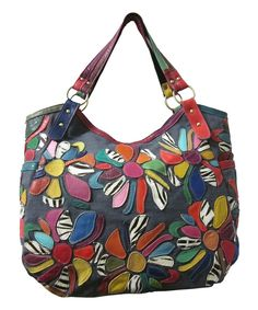 Look at this #zulilyfind! Amerileather Pink Rainbow Amelia Leather Tote by Amerileather #zulilyfinds