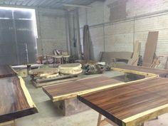 Assorted Tables  #organicfurniture #makedesign #suarwood #design #interiordesign #dinnertable #párota www.makedesign.biz