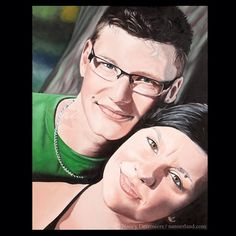 Commissioned work - Wedding gift -  Annie & Carl - oil on canvas -   http://www.facebook.com/theartofnancydesrosiers
