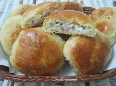 Pão de Batata Recheado - Na Biroskinha