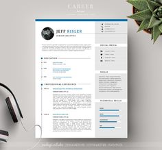 Modern Resume & CoverLetter Template by careerboutique on @creativemarket