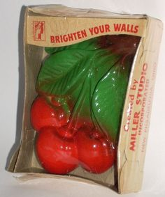 Vintage Miller Studio Chalkware Fruit Cherries in by diantiques