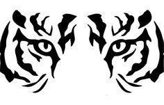 The vinyl has a 6 year life span when properly installed. Tiger Stencil, Eye Stencil, Stencils, Tiger Silhouette, Tiger Art, Tribal Tiger, Tiger Tattoo, Stencil Patterns, Vinyl Shirts