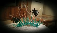 Creepy Spiders Tiara, for your special pet or You! by DoggieStyleByB on Etsy