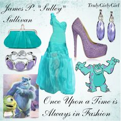 """Disney Style: James P. """"Sulley"""" Sullivan, created by trulygirlygirl on Polyvore"""