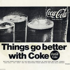 This advertisement from 1968 was plain and simple compared to the artworks of the 1950s