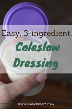 Creamy, easy coleslaw dressing - just like Mom used to make! :) Homestyle recipes that you will love. Easy Coleslaw Dressing, Dressing Recipe, Quick Recipes, Cooking Recipes, Cabbage Salad Recipes, Creamy Coleslaw, Fried Chicken Wings, Summer Dishes, Salad Ingredients