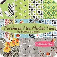 Purchased Flea Market Fancy Fat Quarter Bundle Denyse Schmidt for Free Spirit Fabrics    Passende Stoffe für Kissen usw