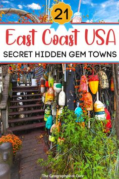 Looking for some off the beaten path destinations in the United States? This US travel guide takes you to 21 secret towns and secret spots on the East Coast. These hidden gems are every bit as nice as the more well known tourist hotspots, but they don't have the crowds. These must see East Coast towns and must visit destinations make the perfect US weekend getaway -- with mountains, sparkling lakes, and impressive art and foodie scenes. US Itineraries | US Road Trips | Best Towns in the US East Coast Usa, The Cure