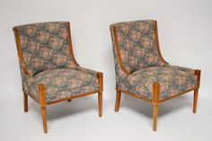 Pair of Mid-Century Vintage Floral Chairs
