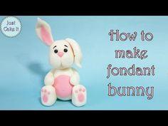 How to make fondant bunny cake topper / Jak zrobić królika z masy cukrowej - YouTube