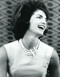 Jackie in India. She was so gorgeous! Always so put together and regal.