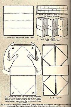 Illustration For The Flat Sachet Napkin Folding Technique